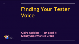 Finding your testing voice rtc2021