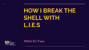How I break the shell with LIES rtc2021