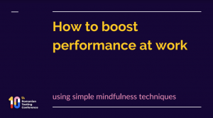 Performance with mindfulness tehniques rtc 2021